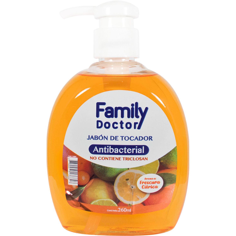 FAMILY DOCTOR Jabón Líquido Antibacterial 260 Ml – Frescura Cítrica Varios Jabones