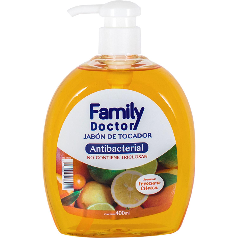 FAMILY DOCTOR Jabón Líquido Antibacterial 400 Ml – Frescura Cítrica Varios Jabones