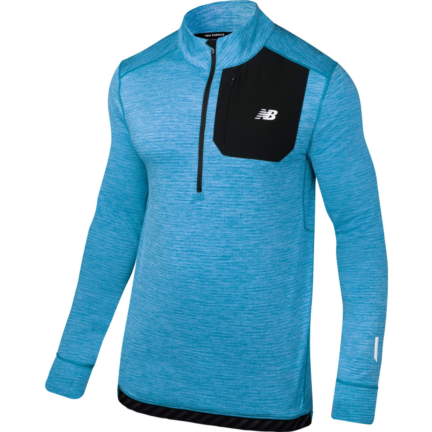 New Balance Newbalance Men Quarter Zip Azul Azul Jerseys
