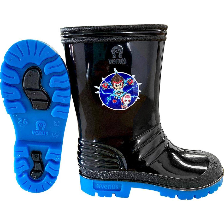 VENUS Stk Velocy Ng Az Negro / azul Botas para lluvia