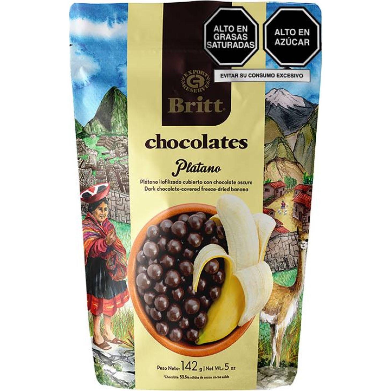 BRITT Platano  Cubierto De Chocolate Oscuro 142 G Sin color Surtidos de dulces y chocolate