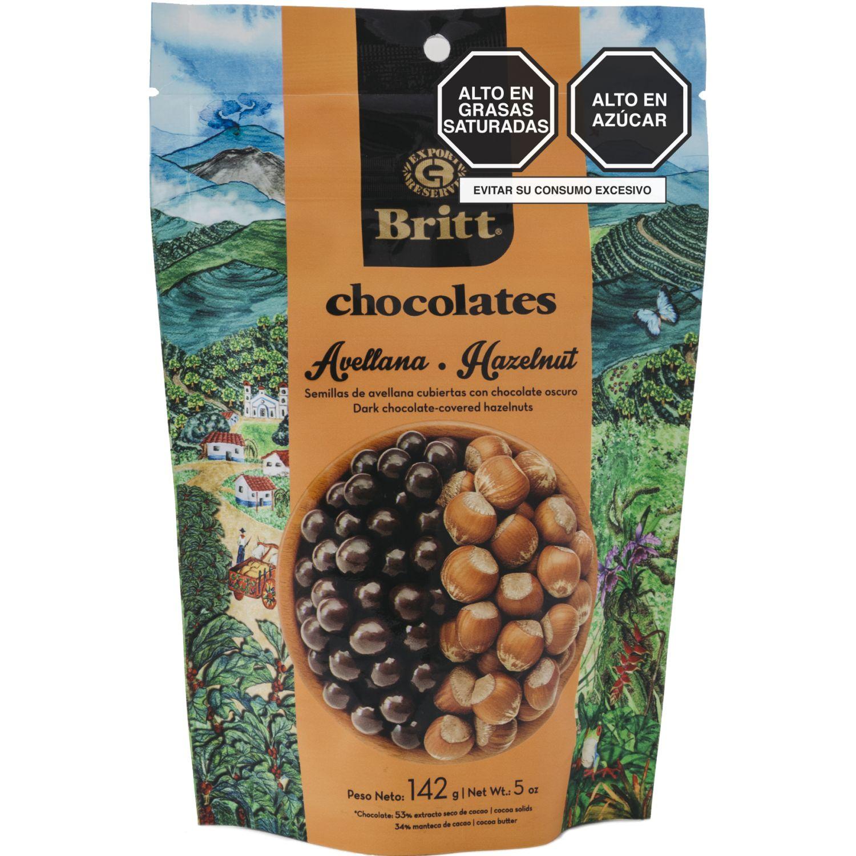 BRITT Avellana Britt Cubierta Chocolate Peru 142 G Sin color Surtidos de dulces y chocolate