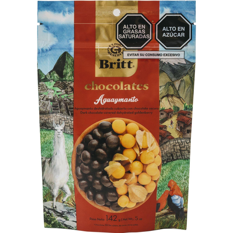 BRITT Aguaymanto Britt Cubierto De Chocolate Peru 142 G Sin color Surtidos de dulces y chocolate