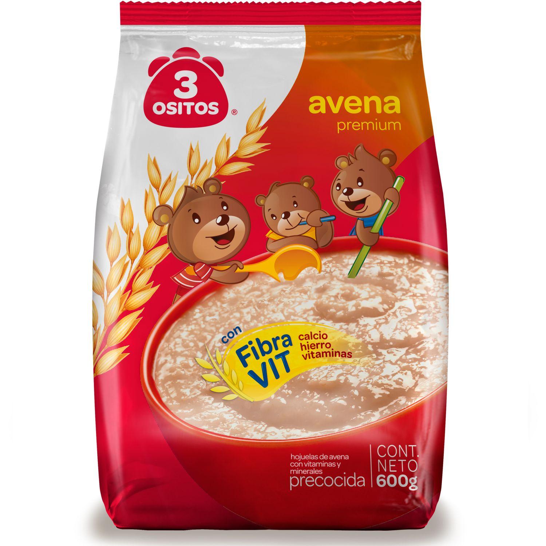 3 OSITOS Avena Premium Clasica 3 Ositos 600g. Varios Desayuno y barras de cereales