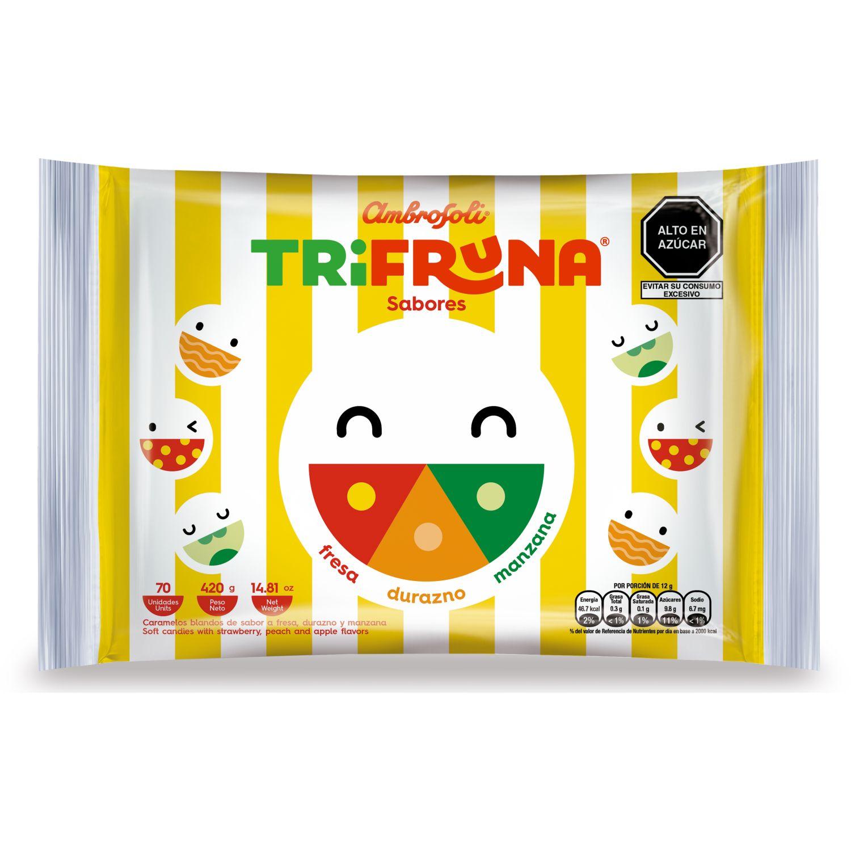 AMBROSOLI Trifruna Fresa/Durazno/Manzana 420gr Varios Surtidos de dulces y chocolate