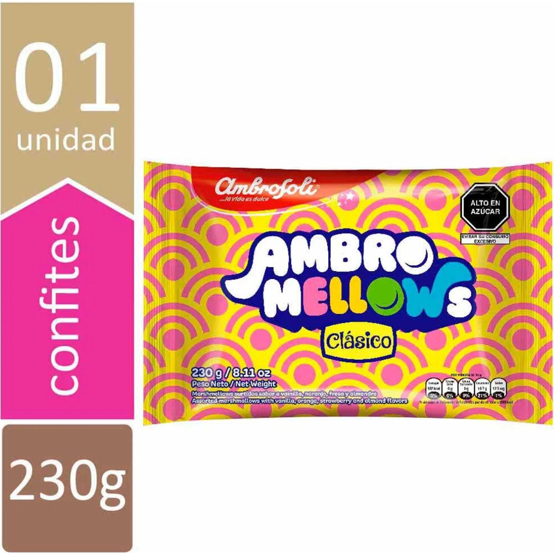 AMBROSOLI Marshmallow Mellows Surtido 230gr Varios Marshmallows