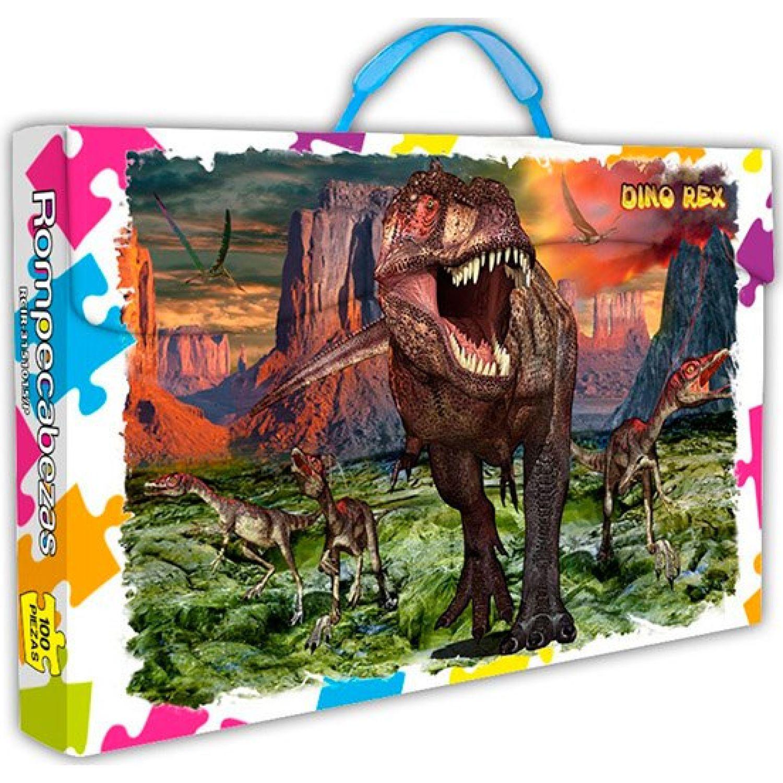 ONLINE Rompecabezas X 100 Pzas Dino Rex MULTICOLOR Rompecabezas 3-d
