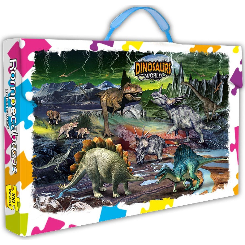 ONLINE Rompecabezas X 100 Pzas Dinosaurs World Iv MULTICOLOR Rompecabezas 3-d