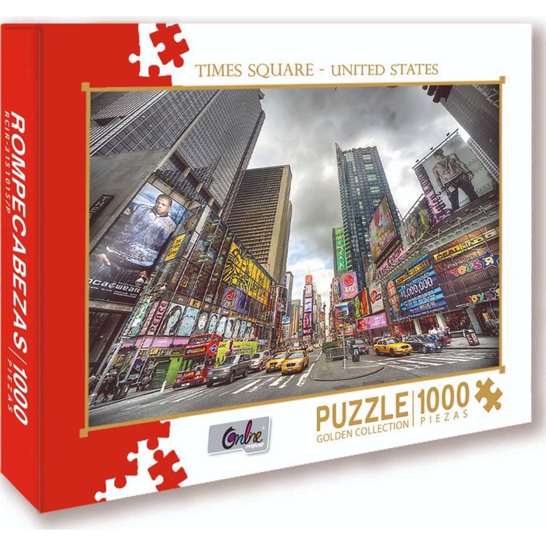 ONLINE Rompecabezas X 1000 Pzas Times Square United State MULTICOLOR Rompecabezas 3-d