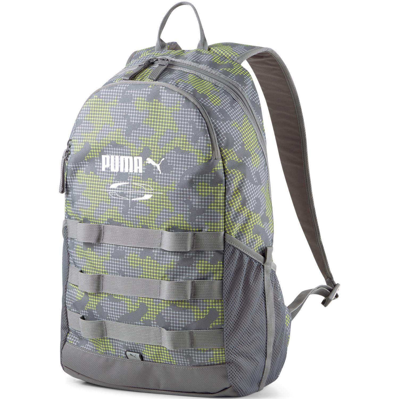 Puma Puma Style Backpack Verde / gris Mochilas multipropósitos