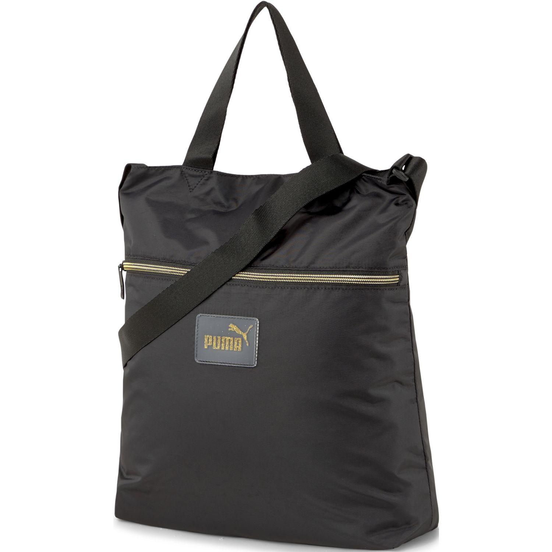 Puma Core Pop Shopper Negro Bolsas con cordón para fans de deportes