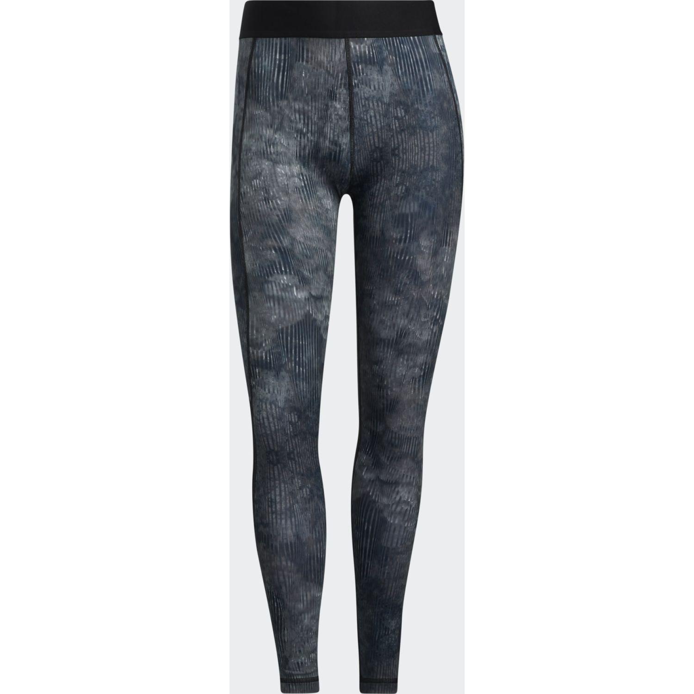 adidas Tf Floral L T Negro / azul Leggings deportivos