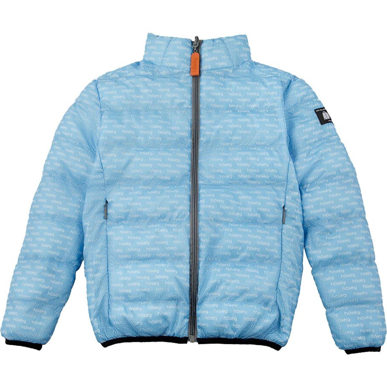 Hoseg casaca pop cloud kids CELESTE/GRIS Plumas y alternos