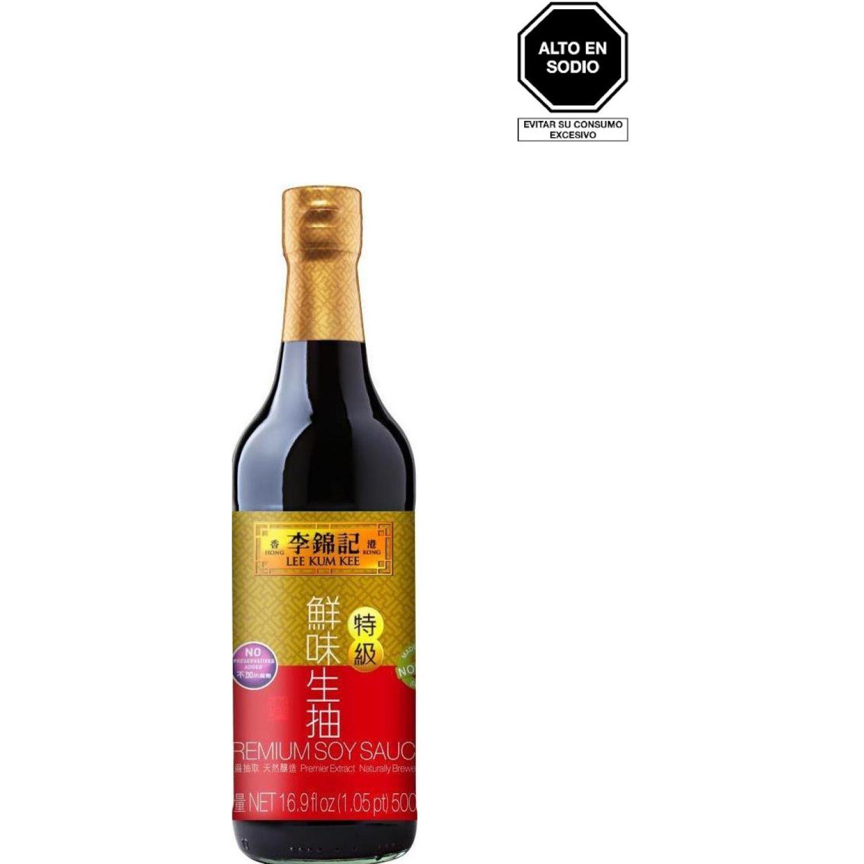 LEE KUM KEE Sillao Premium Claro 500ml Bot 0 Salsa de soja