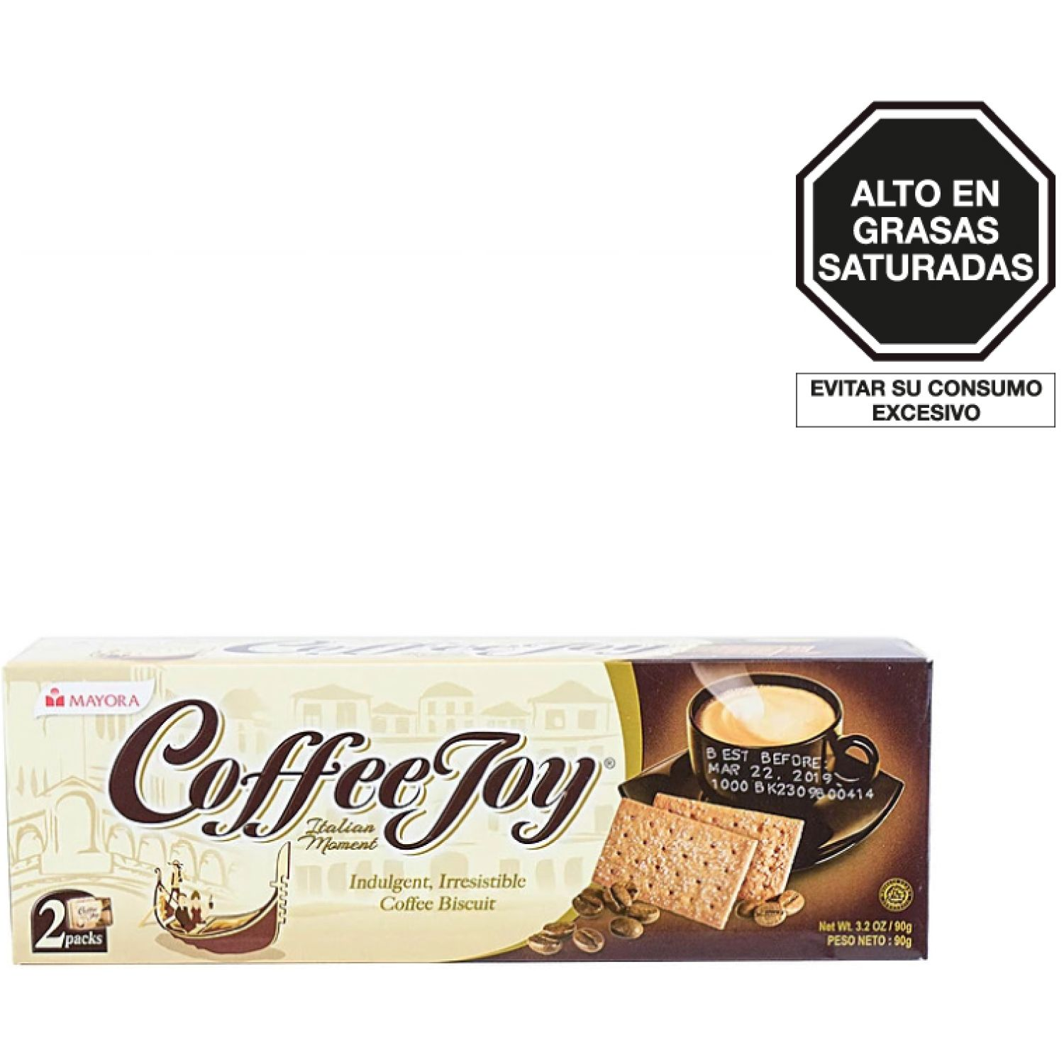 MAYORA GALLETA DE CAFÉ JOY BISCUIT 90G PAQ 0 Pasteles de arroz, patatas fritas y galletas