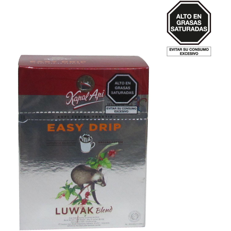 KAPAL API Kapal Api Cafƒ Easy Drip Luwak Blend 5 Sob X 10g Caj SIN COLOR Regalos de café y té