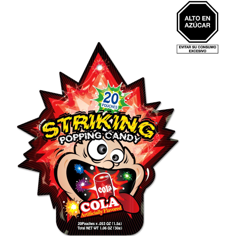 STRIKINGÊ Striking Caramelo Popping Sabor Cola 30g Und SIN COLOR Gomitas y grageas