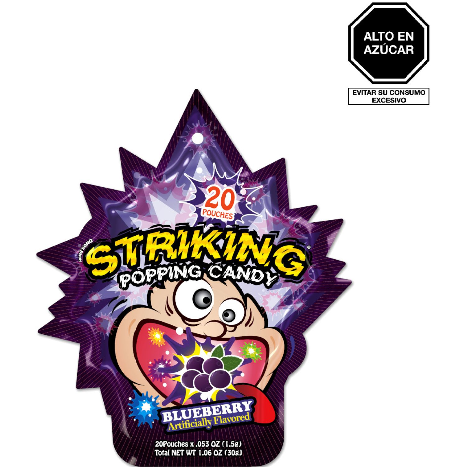 STRIKING Caramelo Popping Sabor Arandano30gund SIN COLOR Frunas