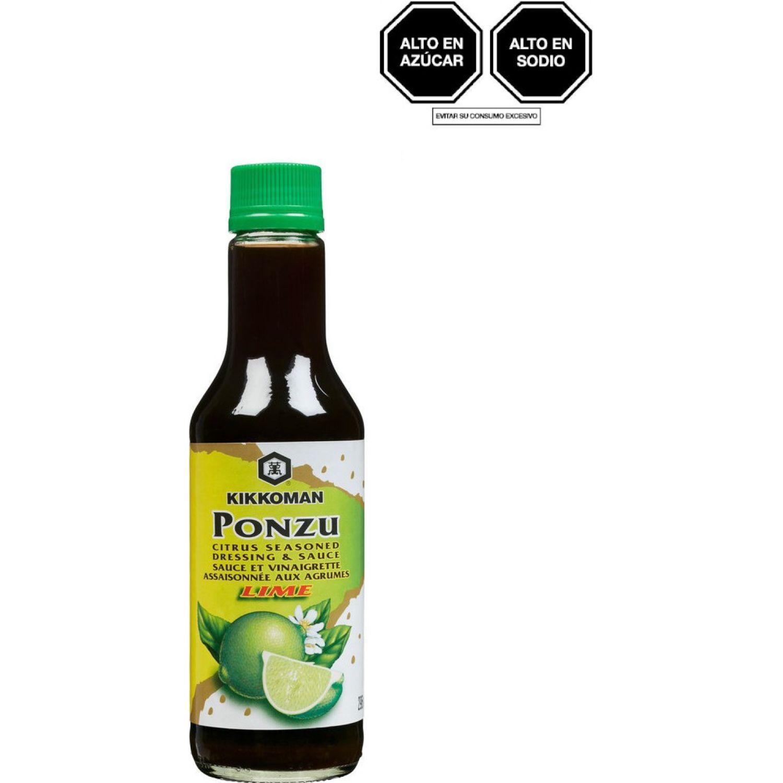 KIKKOMAN Salsa Ponzu Lima 10 Oz Bot SIN COLOR Salsa de soja