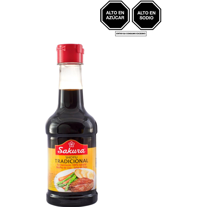 SAKURA Salsa Soya Tradicional S/ Gluten 150ml SIN COLOR Salsa de soja