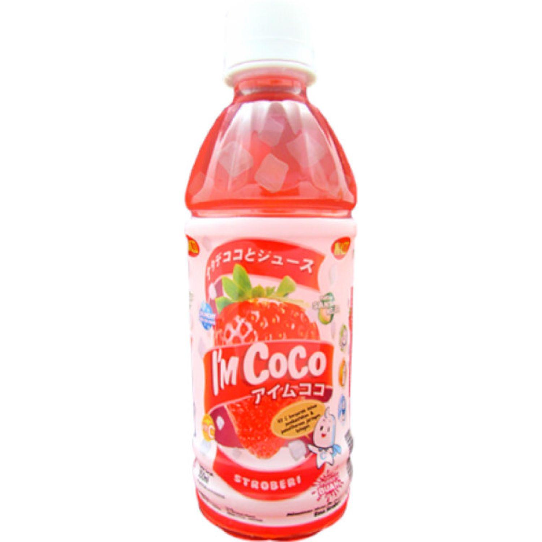 I'M COCO Bebida C/Fresa 350ml Bot SIN COLOR Agua de coco