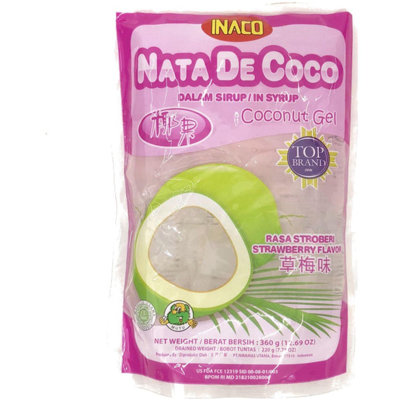 INACO Nata De Coco Sabor Fresa 360g Dyp SIN COLOR Agua de coco