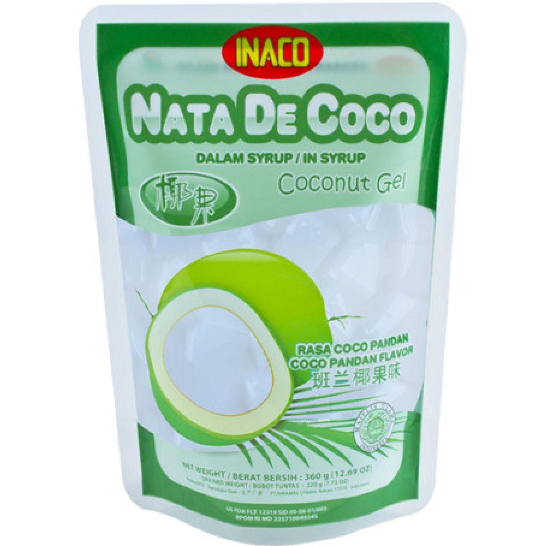 INACO NATA DE COCO SABOR PANDAN 360G DYP SIN COLOR Agua de coco
