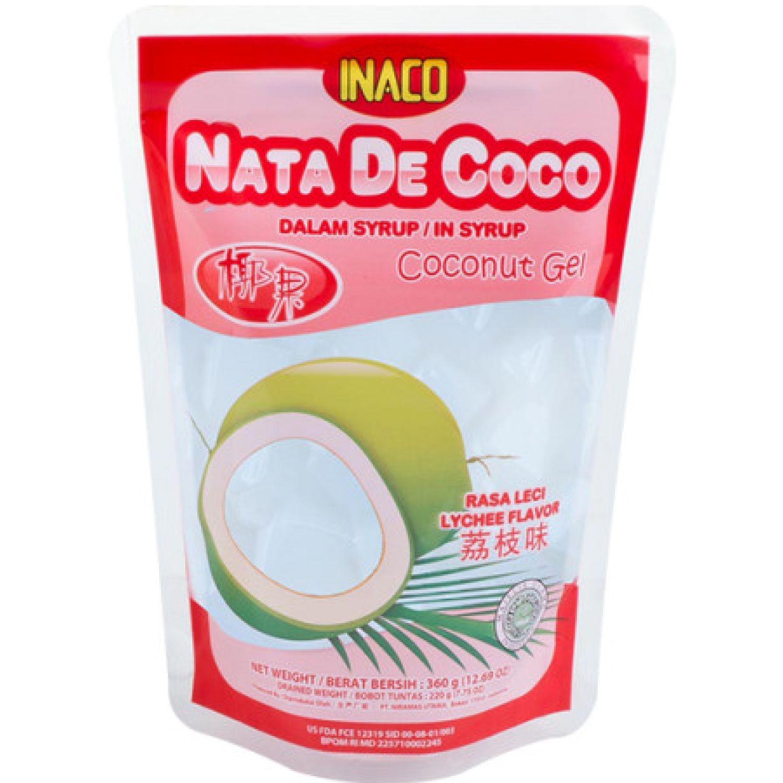 INACO Nata De Coco Sabor Lychee 360g Dyp SIN COLOR Agua de coco