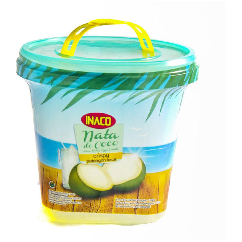 INACO Nata De Coco Sabor Vainilla 1kg Bol SIN COLOR Agua de coco