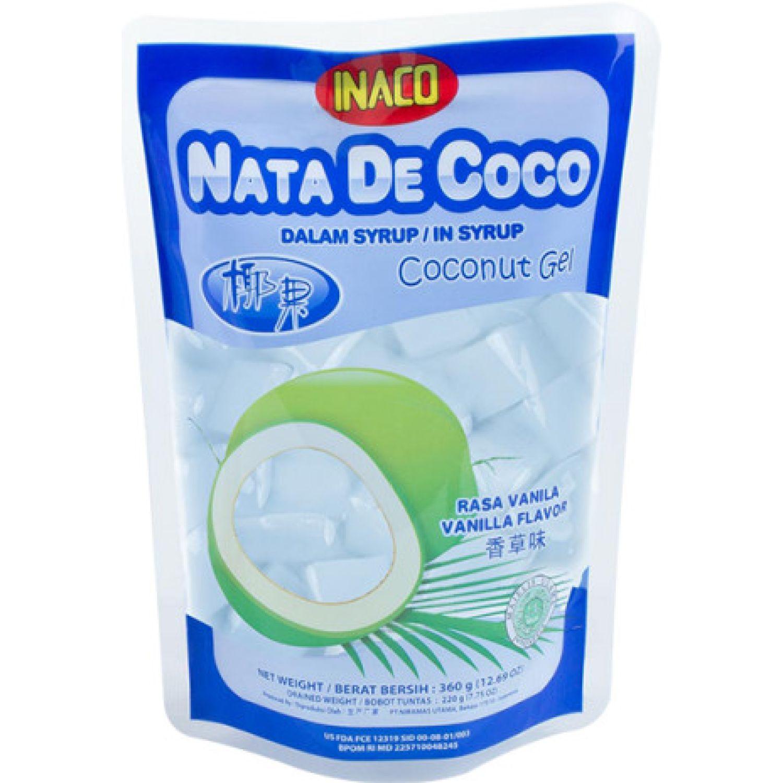 INACO Nata De Coco Sabor Vainilla 360g Dyp SIN COLOR Agua de coco
