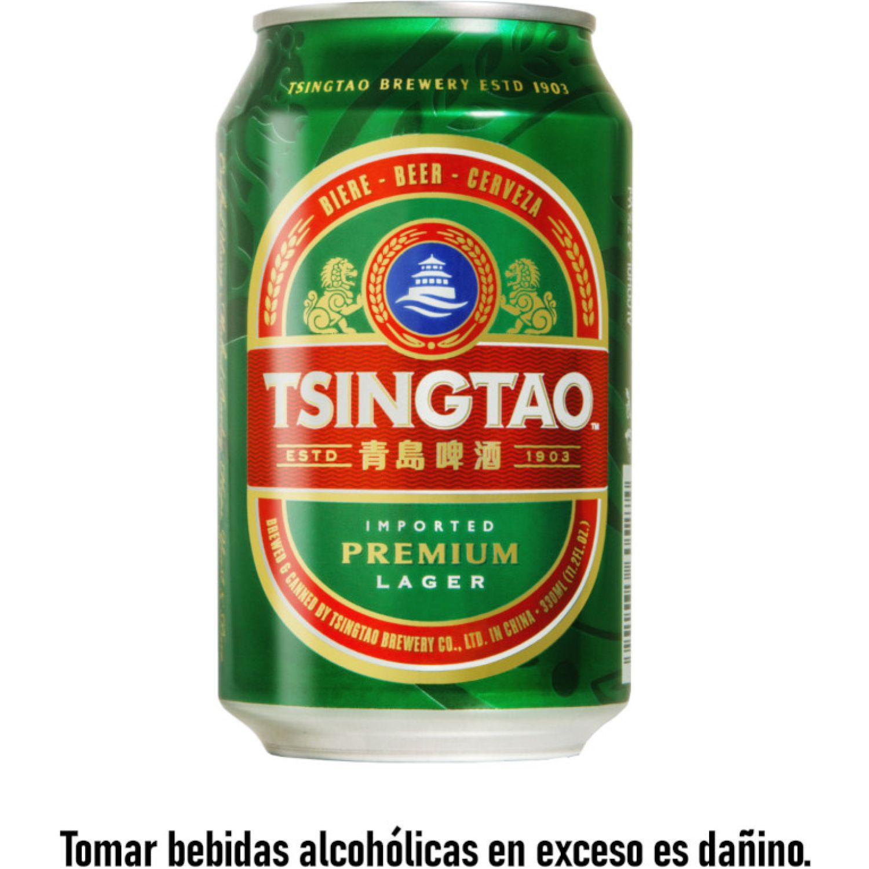 TSINGTAO CERVEZA CLARA 330ML LAT SIN COLOR Cerveza