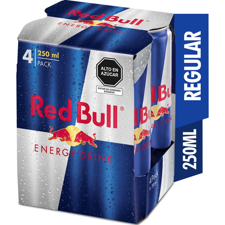 RED BULL ENERGY DRINK 250ML 4PACK SIN COLOR Bebidas energizantes