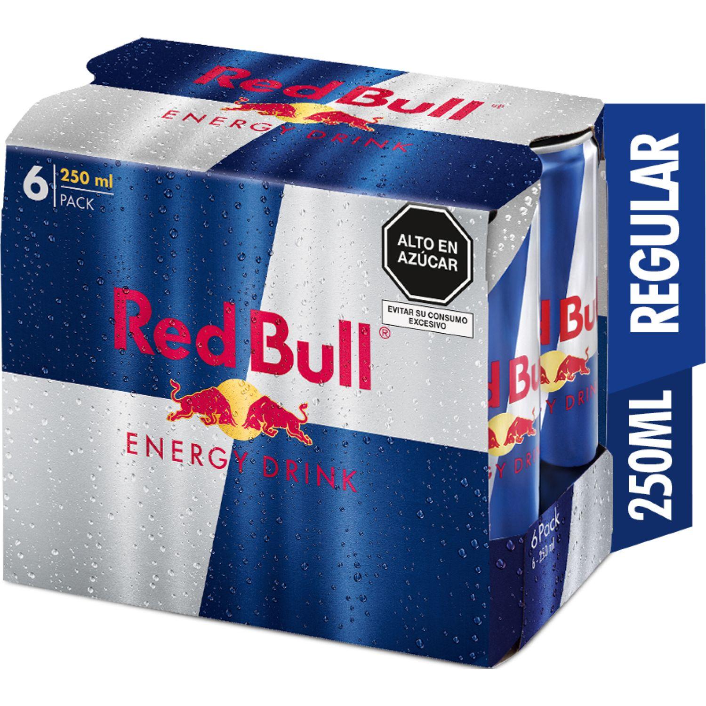 RED BULL ENERGY DRINK 250ML 6PACK SIN COLOR Bebidas energizantes