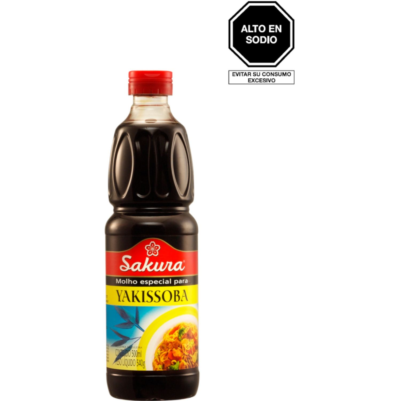 SAKURA Salsa Yakisoba 500ml Bot SIN COLOR Salsa de soja