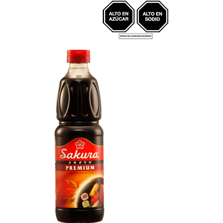 SAKURA Salsa Soya Premium Sin Gluten 500ml Bot SIN COLOR Salsa de soja