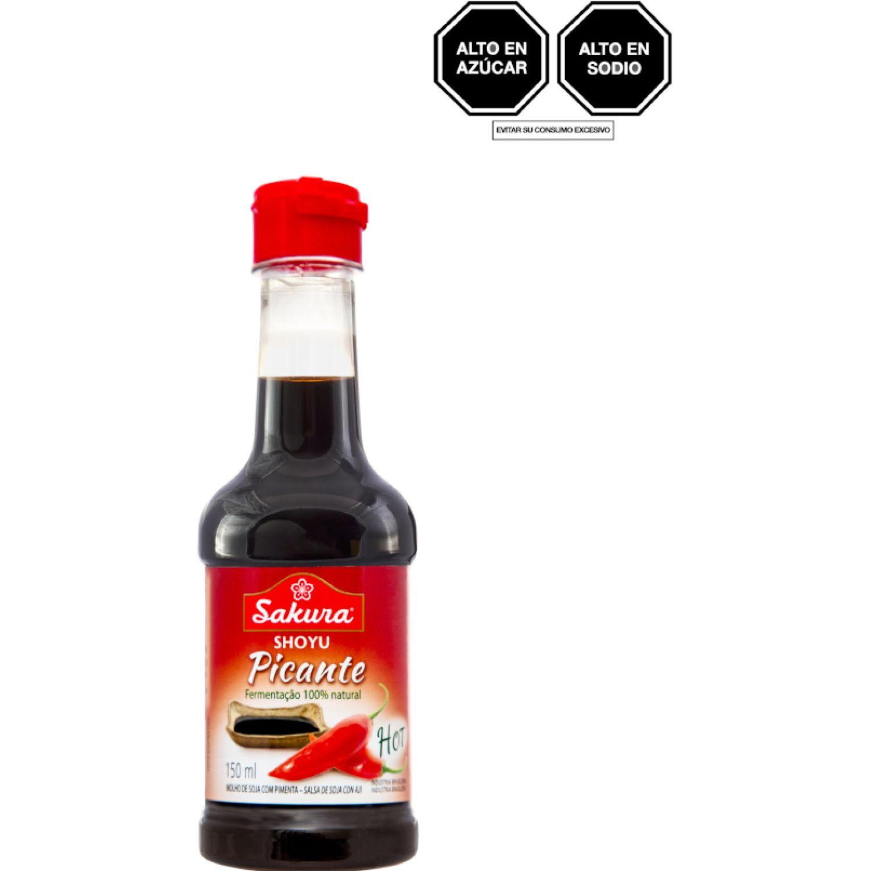 SAKURA Salsa Soya Picante Sin Gluten 150ml Bot SIN COLOR Salsa de soja
