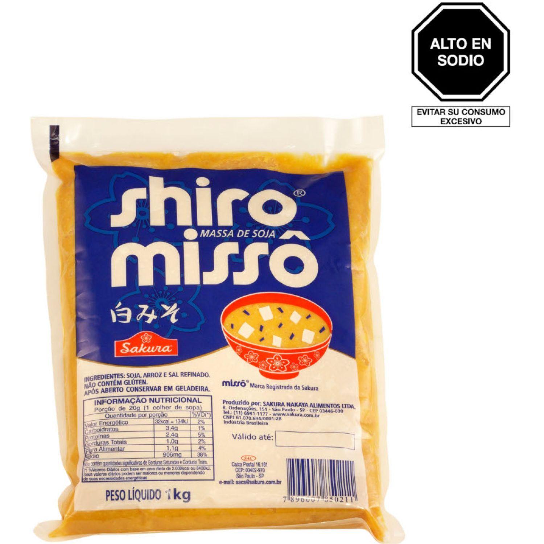SAKURA Pasta Shiro Miso 1kg Bol SIN COLOR Sopas de miso
