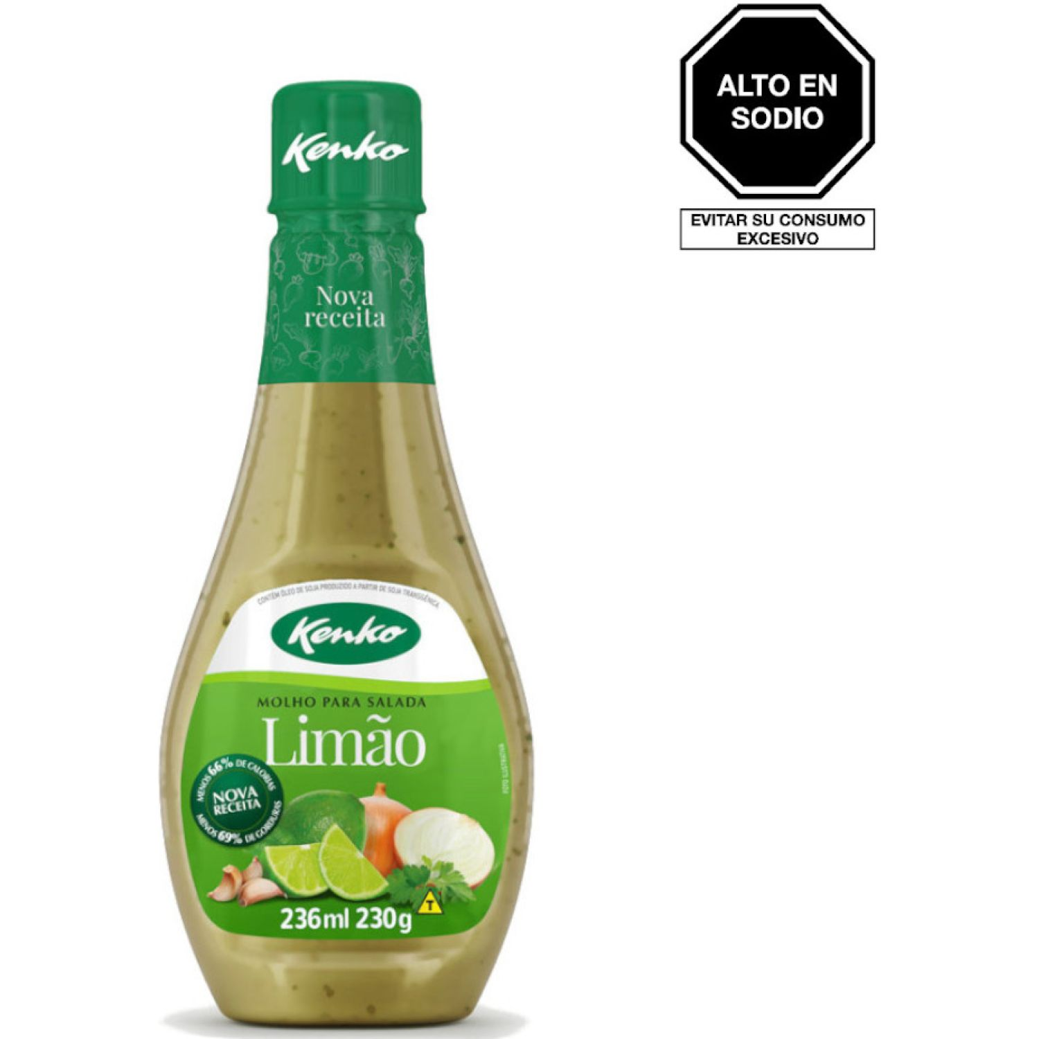 KENKO SALSA LIMON P/ENSALADA 236ML BOT SIN COLOR Vinagreta