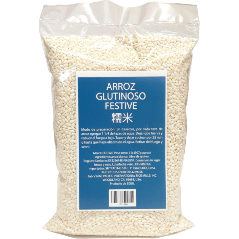 FESTIVE Arroz Glutinoso 2lb Bol SIN COLOR Blanco