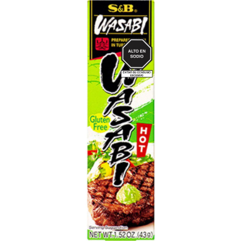 S&B s&b tube neri wasabi 1.52 oz (43 gr.) SIN COLOR wasabi en polvo