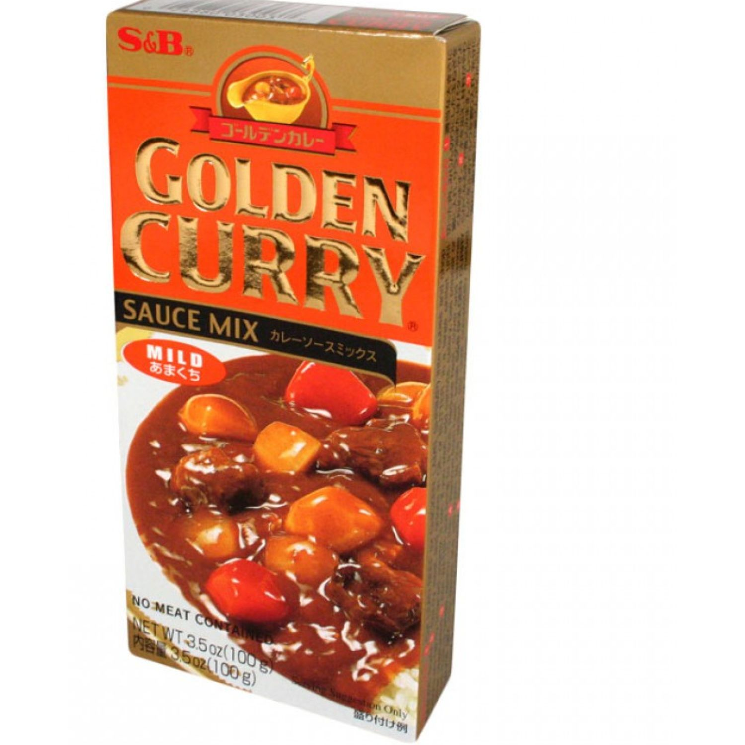 S&B S&b Golden Curry Mild 3.25oz SIN COLOR Salsa de curry