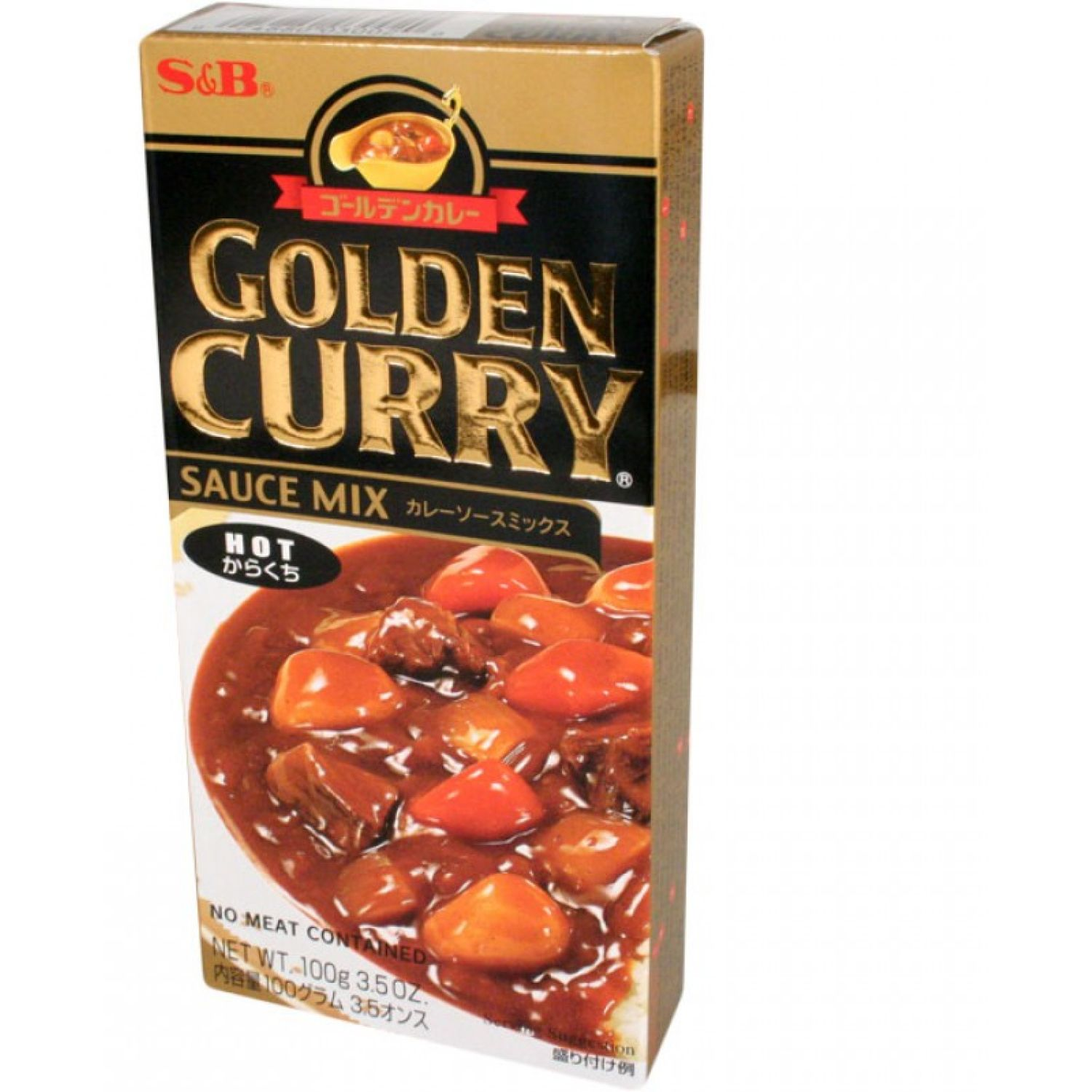 S&B S&b Golden Curry Hot 3.25 Oz. SIN COLOR Salsa de curry