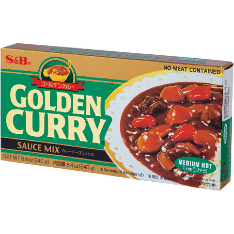 S&B S&b Jumbo Med Hot Curry 7.76 Oz. SIN COLOR Salsa de curry