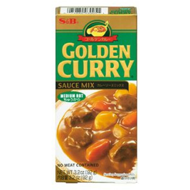 S&B S&b Golden Curry Med Hot 3.25 Oz. (92.13 Gr.) SIN COLOR Salsa de curry