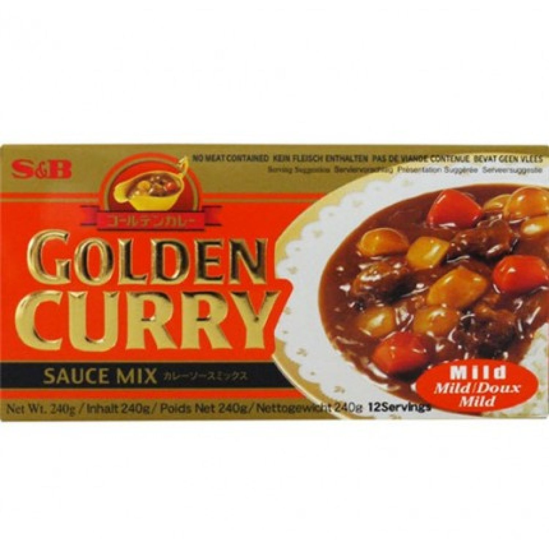 S&B S&b Jumbo Mild Curry  (220 Gr) 7.76oz SIN COLOR Salsa de curry