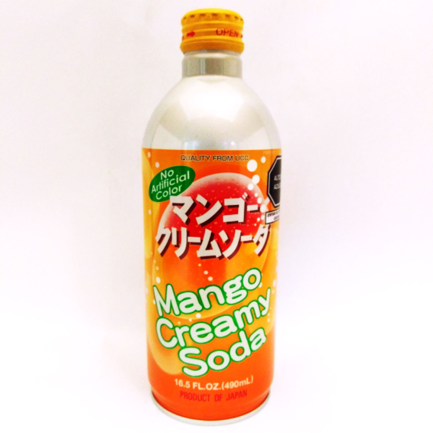 UCC UCC MANGO CREAM SODA CAN SIN COLOR El jugo espumoso