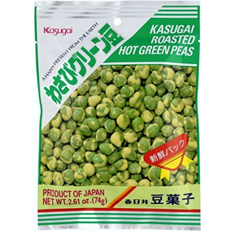 KASUGAI Kasugai Wasabi Green Peas 2.3 Oz. (67 G) SIN COLOR Aperitivos
