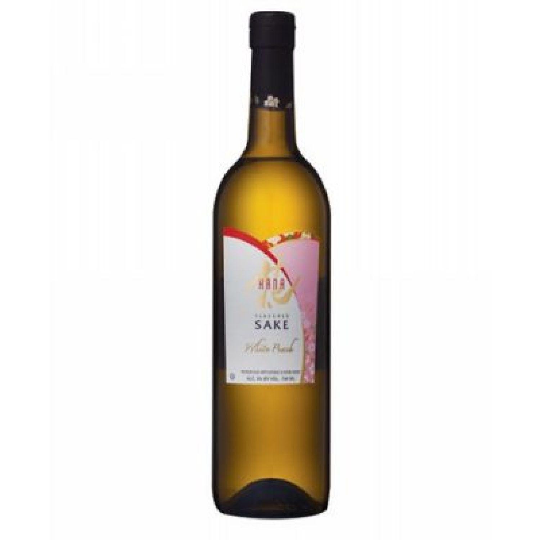 HANA SAKE WHITE PEACH 750 ML SIN COLOR Licor de Arroz y Sake