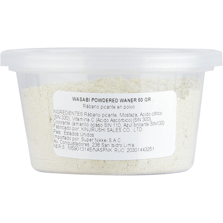 WANER Wasabi Powdered Waner 50 Gr (Granel) SIN COLOR Wasabi en polvo