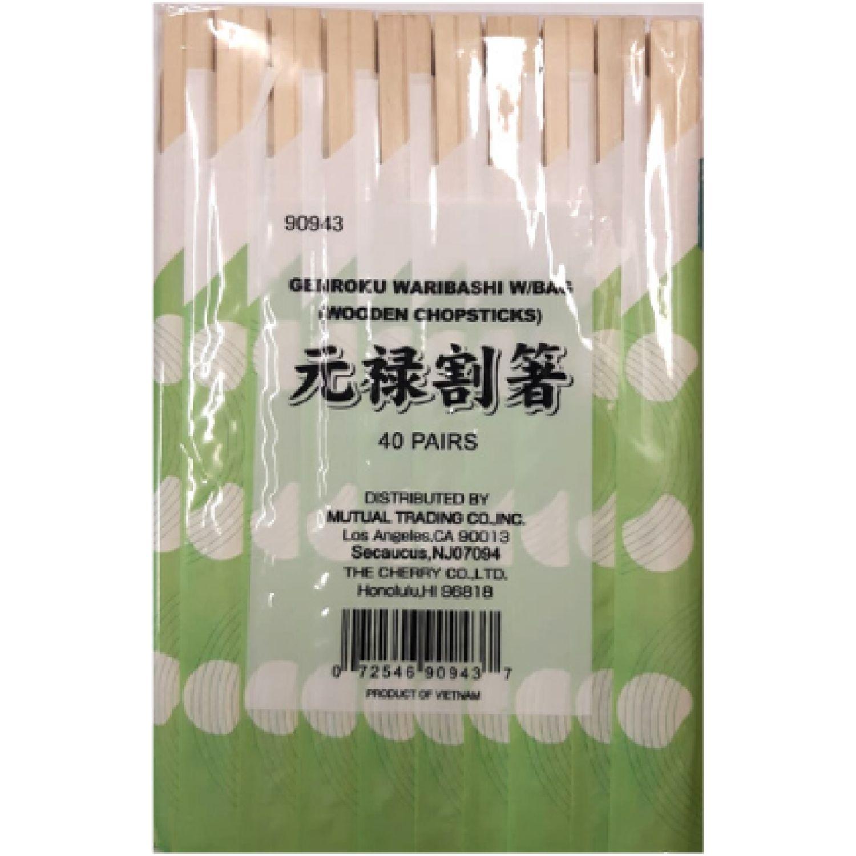 S/M Genroku Waribashi W/Bag 100/40/21cm SIN COLOR Palillos y Sujetadores de Palillos